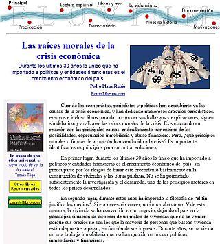 raices morales de la crisis