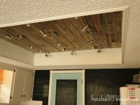 New Kitchen Lighting + Planked Ceiling - frazzled JOY