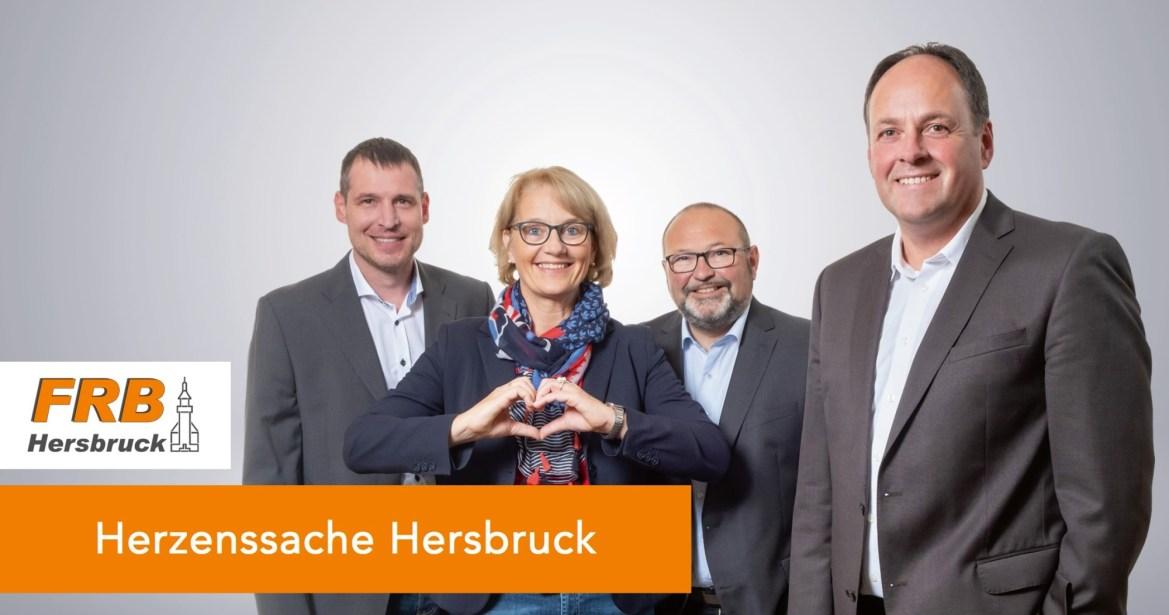 Marco Scharrer, Gudrun Zeltner, Wolfgang Wein und Jürgen Amann setzen sich für die Belebung der Hersbrucker Innenstadt ein.