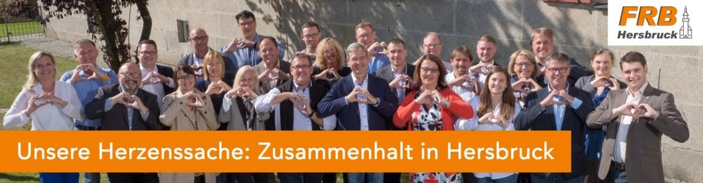 """Banner Herzenssache """"Zusammenhalt in Hersbruck!"""""""