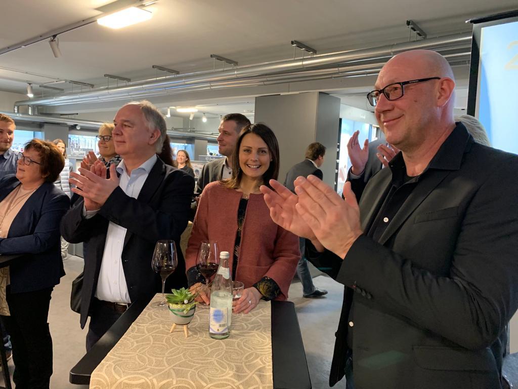 Show-Cooking in der Fackelmann Welt Hersbruck: Klaus Hacker, Ilona Ilg und Volker Hegel