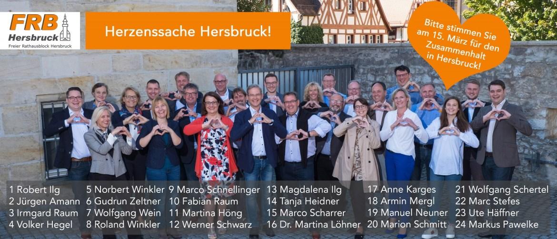 Unsere Herzenssache: Zusammenhalt in Hersbruck: Bitte gehen Sie am 15. März wählen