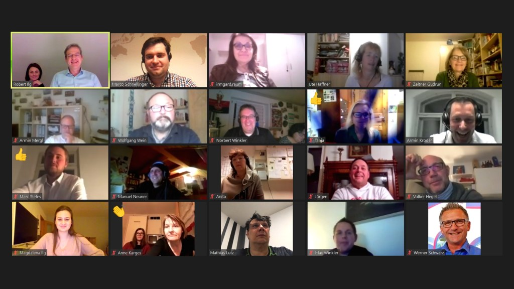 Videokonferenz der FRB Mitglieder