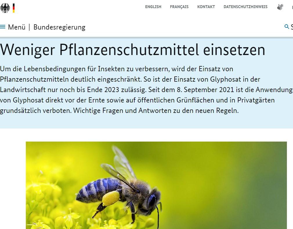 Nya villkor för användning av glyfosat i Tyskland (med dansk sammendrag)