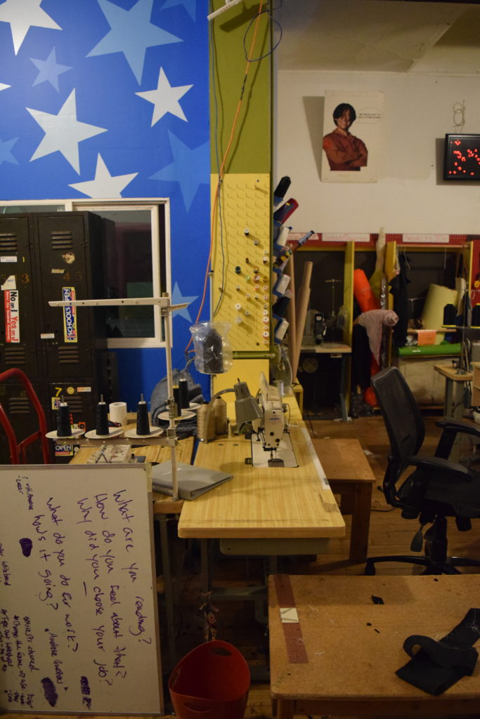 Noisebridge's sewing area