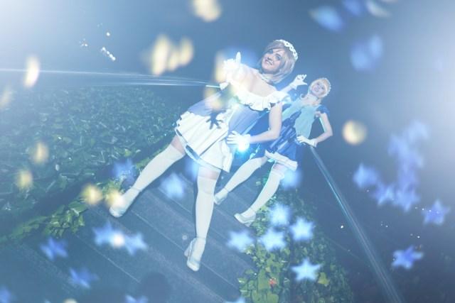 Foto realizada y editada por Phoenix Orange: Eli y Hanayo ('Love Live'), de Kokoam Cosplay & Peanutskye Cosplay