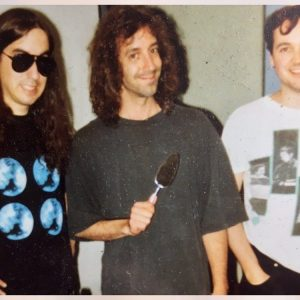 Recording Without A Sound at Dreamland, West Hurley, NY. J Mascis, John Agnello and Dan McLoughlin.