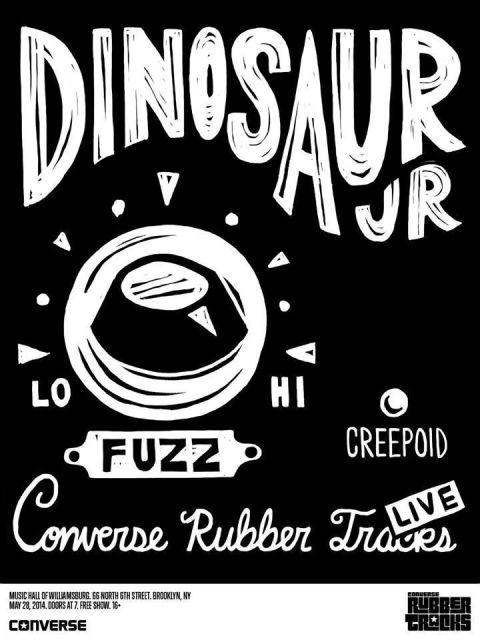 Dinosaur Jr Converse Rubber Tracks Poster