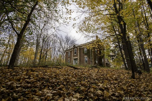 Abandoned House, Fall Scene.