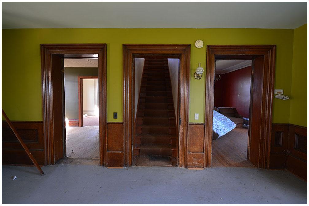 Wood Door Trim in Abandoned House