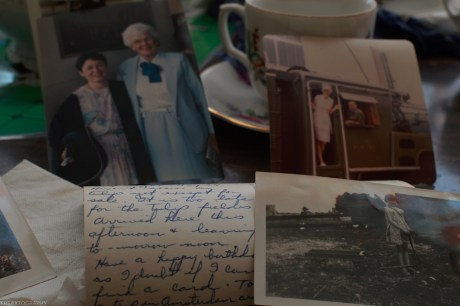 Family Photos and Post Cards left behind in an abandoned house