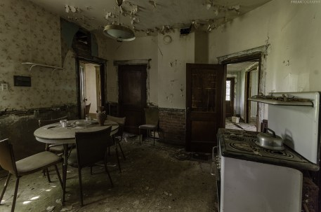 A kitchen stuck in time, in an abandoned ontario house.