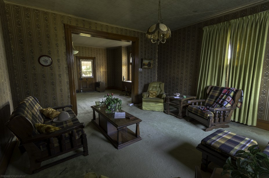 Inside a house that I'd been questioning and watching for over a year, turns out the owners have both died.