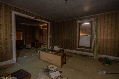 Abandoned Ontario House Destroyed