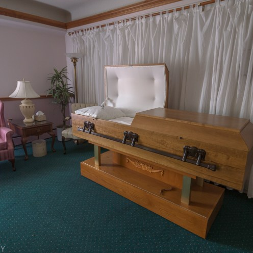 Freaktography, abandoned, abandoned funeral home, abandoned photography, abandoned places, casket, chair, creepy, decay, derelict, funeral home, haunted, haunted places, open casket, photography, urban exploration, urban exploration photography, urban explorer, urban exploring