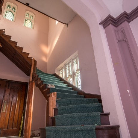 Amazing abandoned staircase in st giles Abandoned Ontario Church By Freaktography Urban exploration photographer