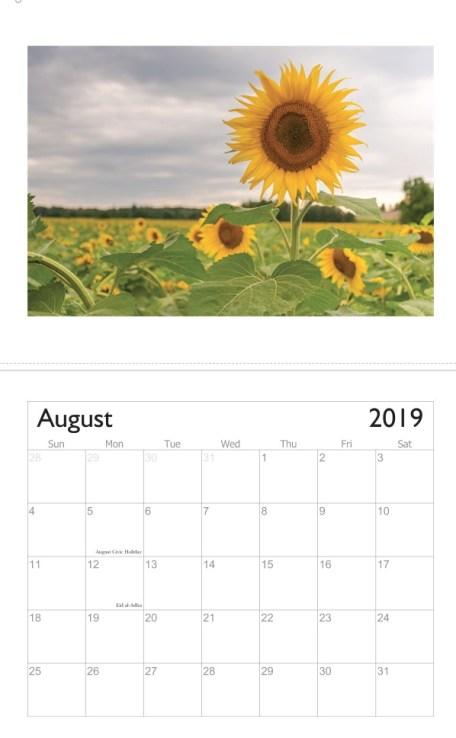 Freaktography 2019 landscape calendar 4