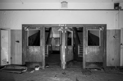 abandoned detroit cooley high school doors