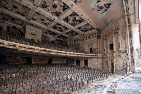 abandoned detroit cooley high school from stage