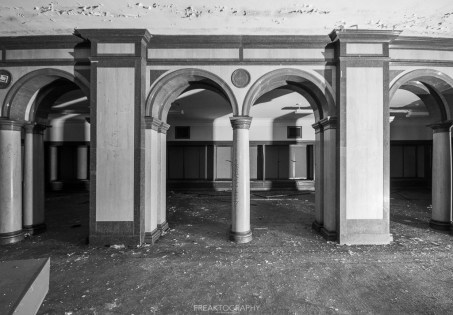 abandoned detroit cooley high school pillars