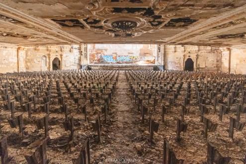 abandoned detroit cooley high school theatre centre