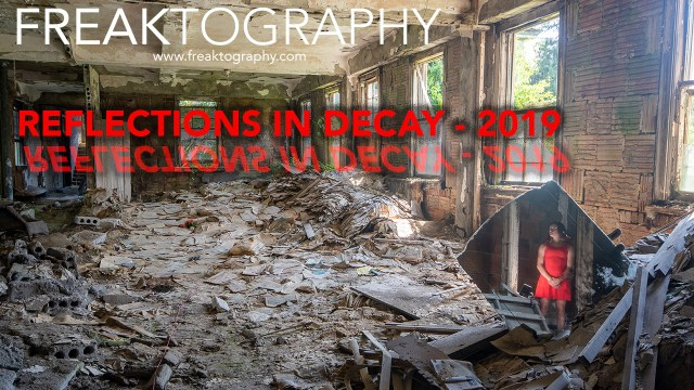 Beauty in Decay - Mirror Reflection Portrait Photography in an Abandoned Building
