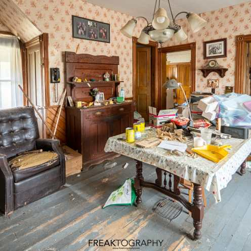 authentic abandoned time capsule house