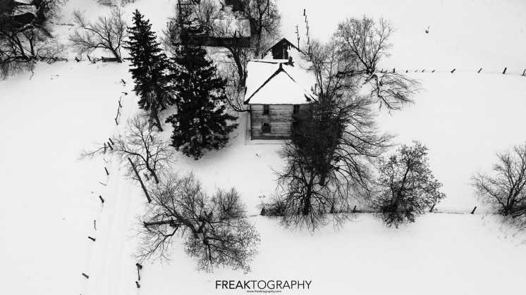 abandoned house drone.