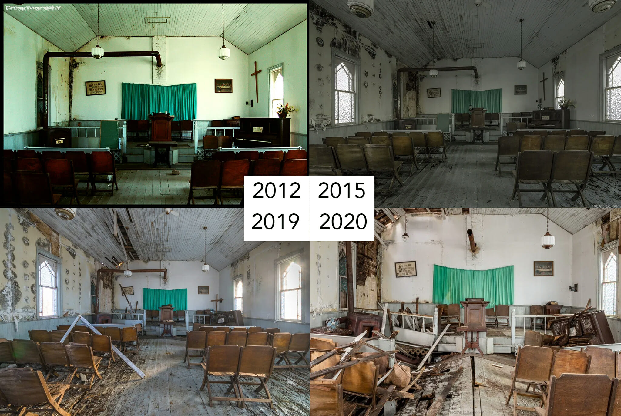 Abandoned Indigenous Church and Burial Ground