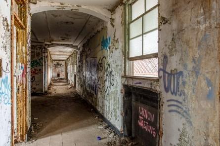 abandoned gary indiana post office corridors