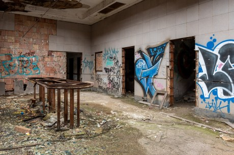 abandoned post office lobby gary indiana