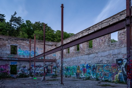 abandonedn barber paper mill photography