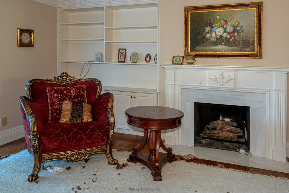 abandoned mansion time capsule with squatter