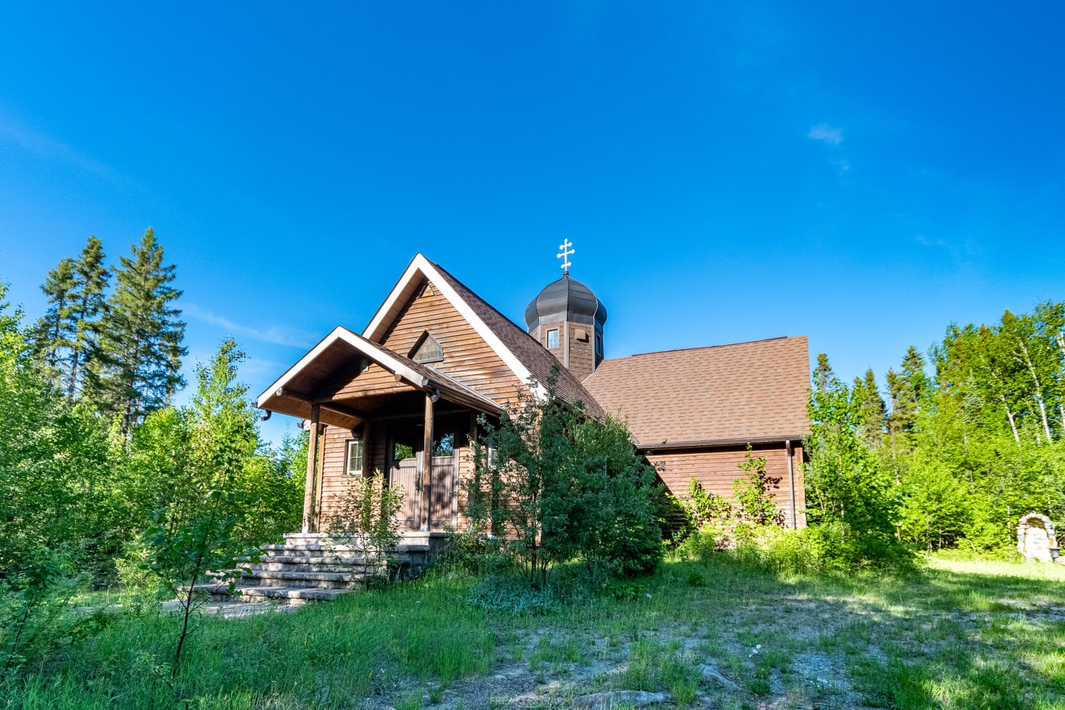 Abandoned Church In The Middle of a Forest