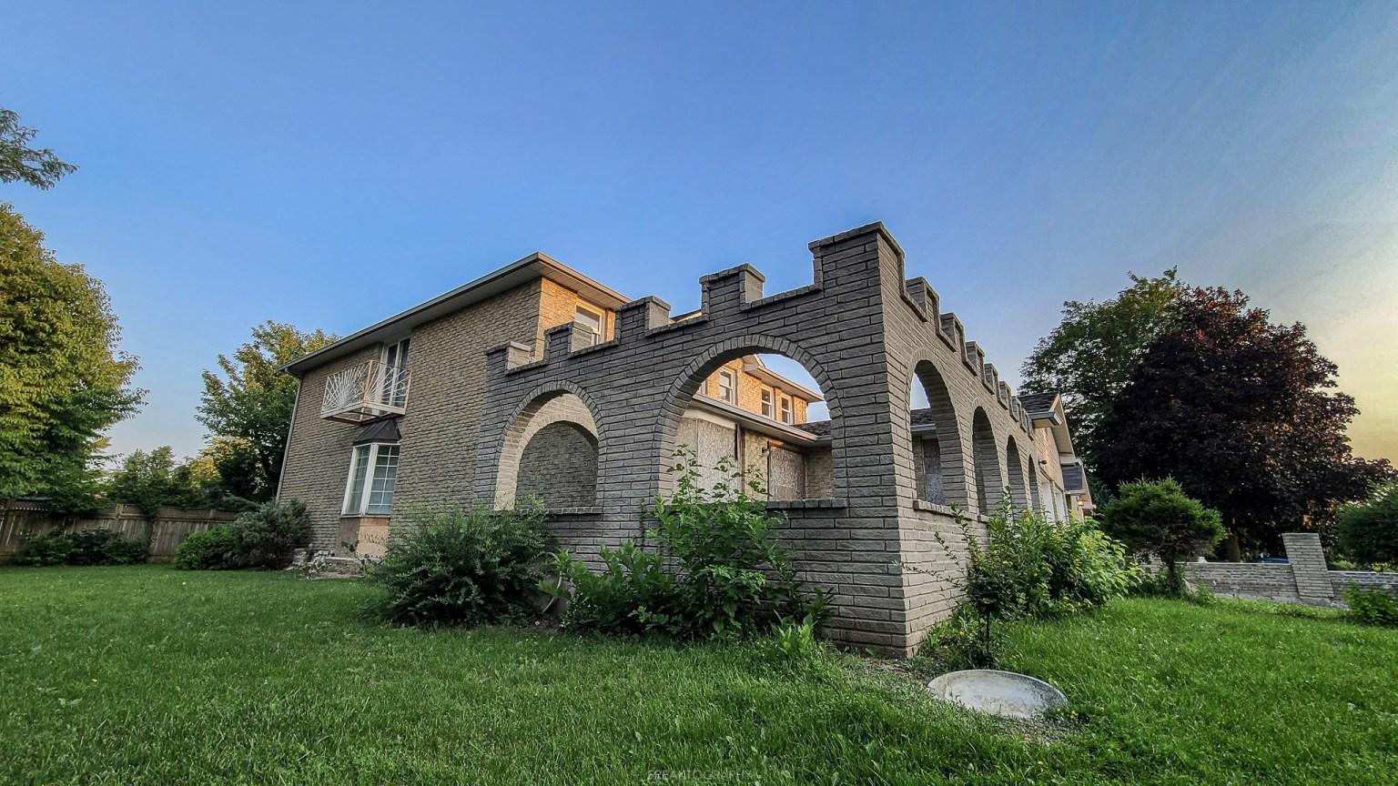 abandoned castle house