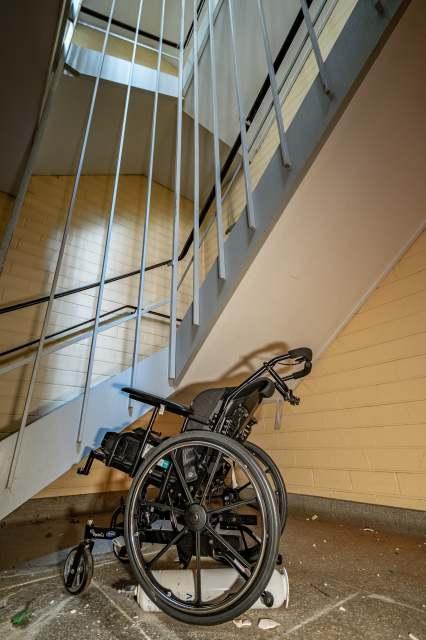 abandoned chedoke childrens hospital wheelchair