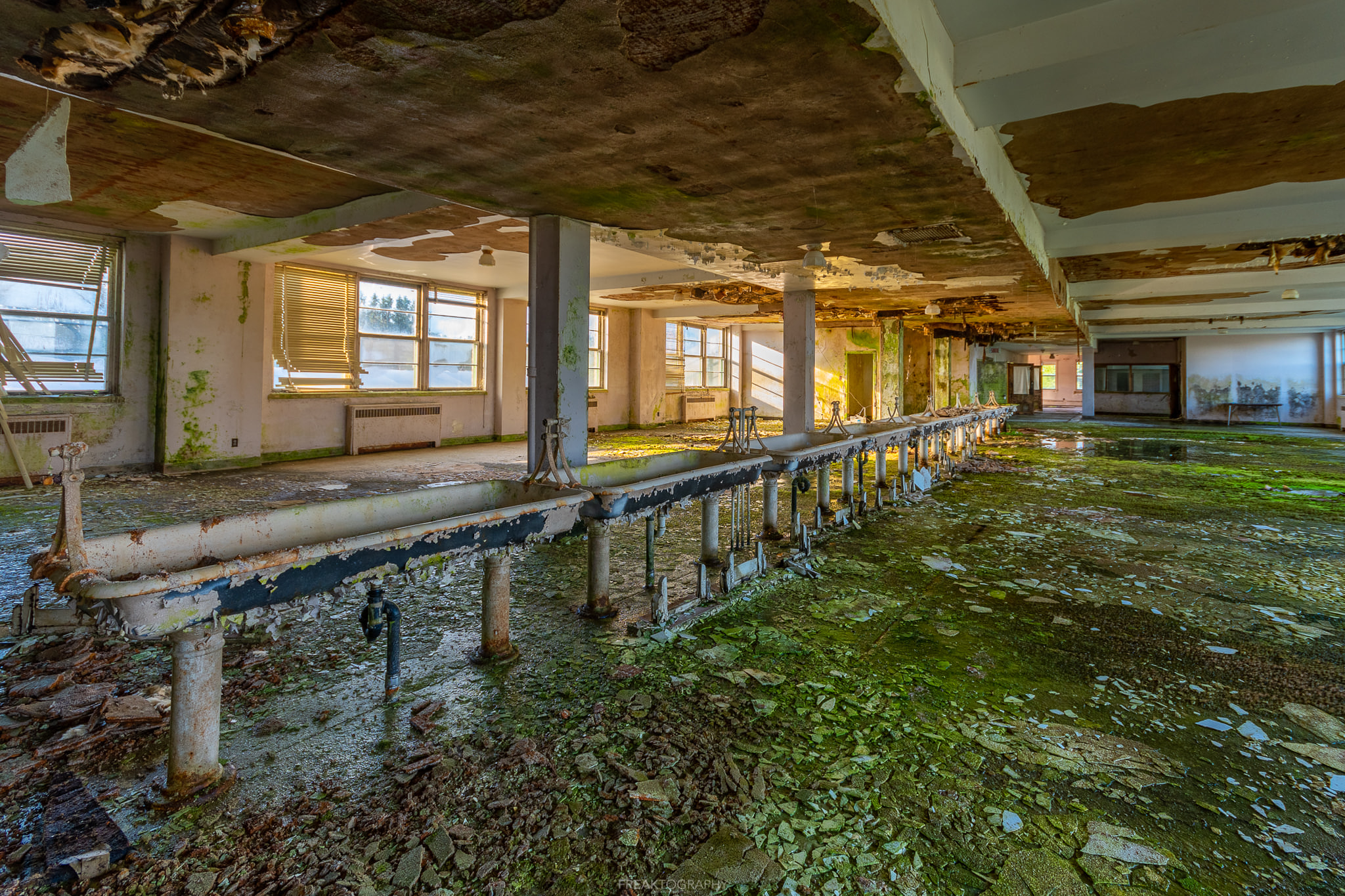 crumbling and dangerous abandoned building