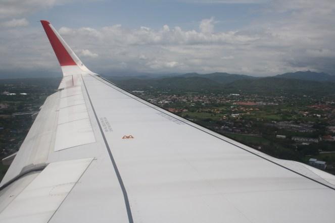 Landing in Chiang Mai.
