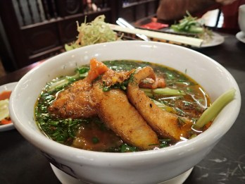 Rice Vermicelli Fish Soup, Vietnam.