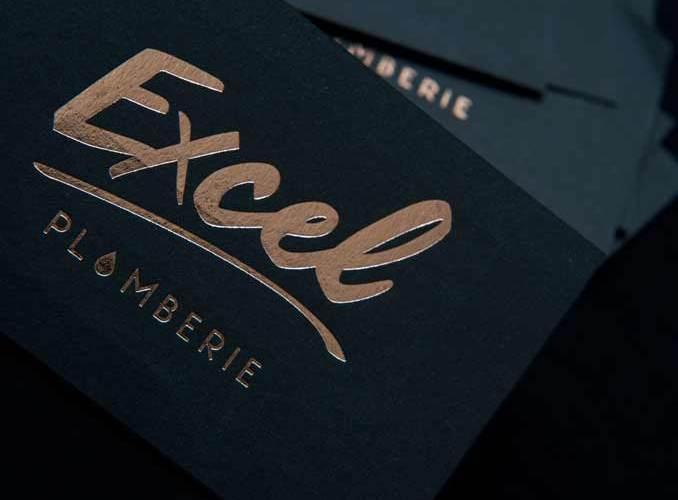 Cartes de visite Excel plomberie par Freckles Design Lyon