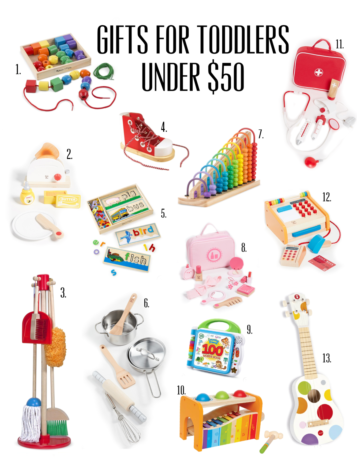 Gifts for toddlers under $50