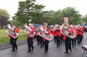 Freckleton Band on the march!