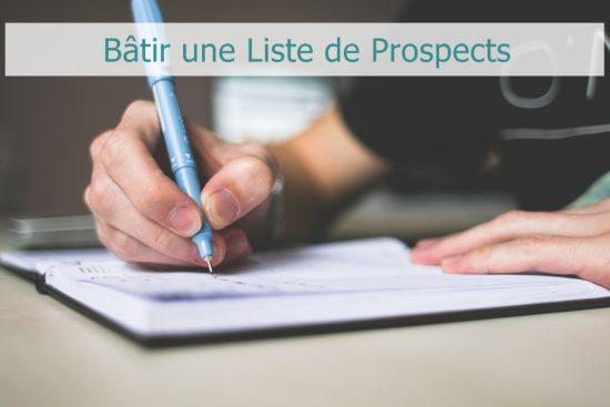 Votre Liste de Prospects en Marketing Relationel