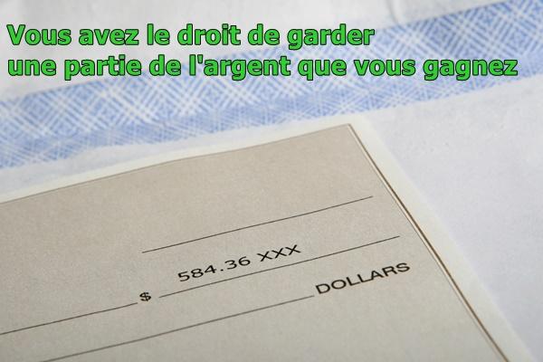 votre chèque de paie vous appartient