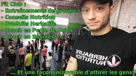FitClub perte de poids mise en forme conseils minceur nutrition herbalife opportunité d'affaire