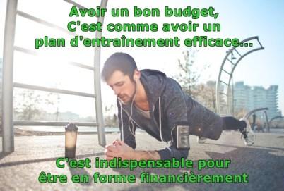 Un budget c'est comme un plan d'entaînement