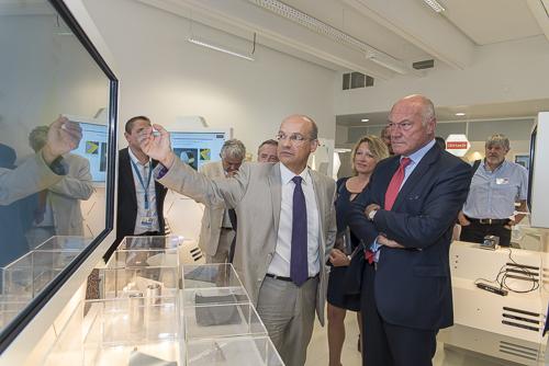 reportage visite président de région Alain Rousset Nouvelle Aquitaine