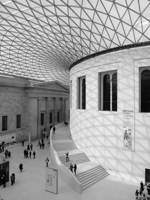 The Great court of British Museum Londres
