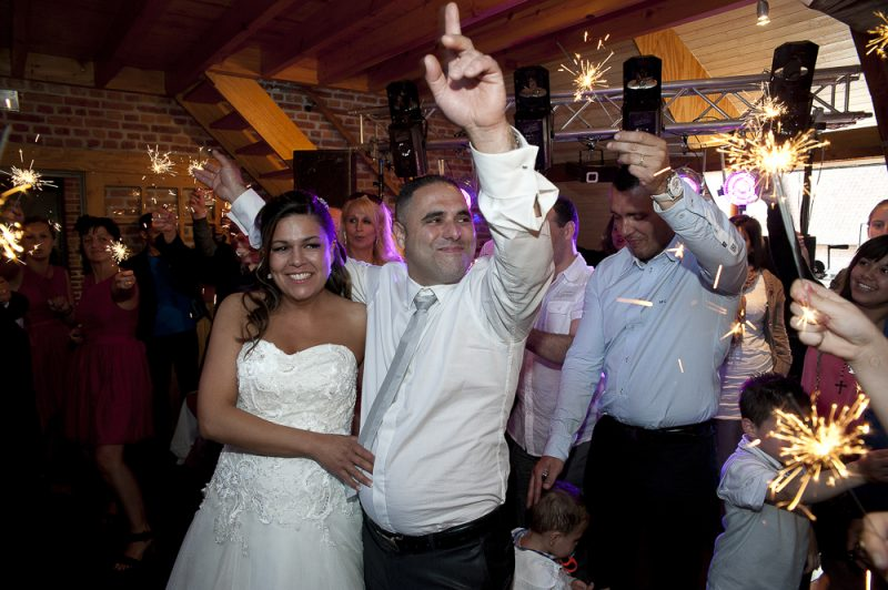 photo de soirée pendant le mariage
