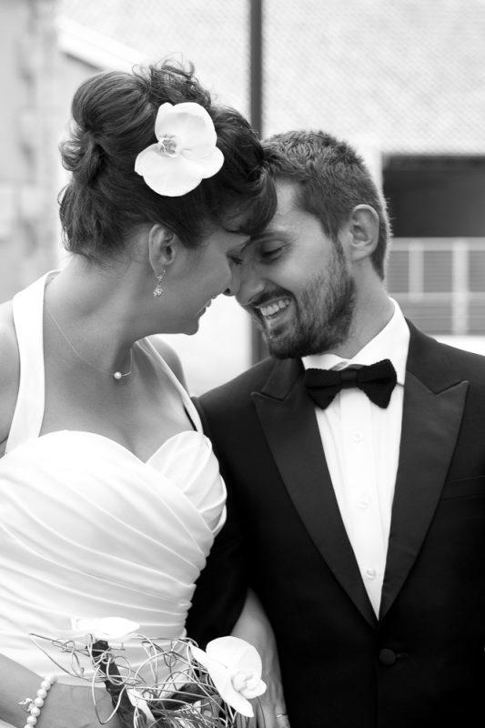 photo mariage en noir et blanc Bordeaux